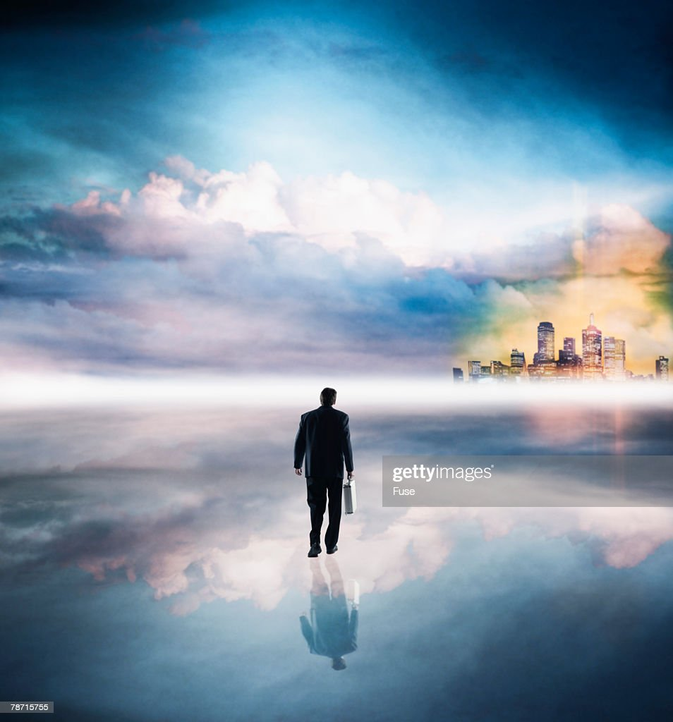 Man Walking in the Clouds