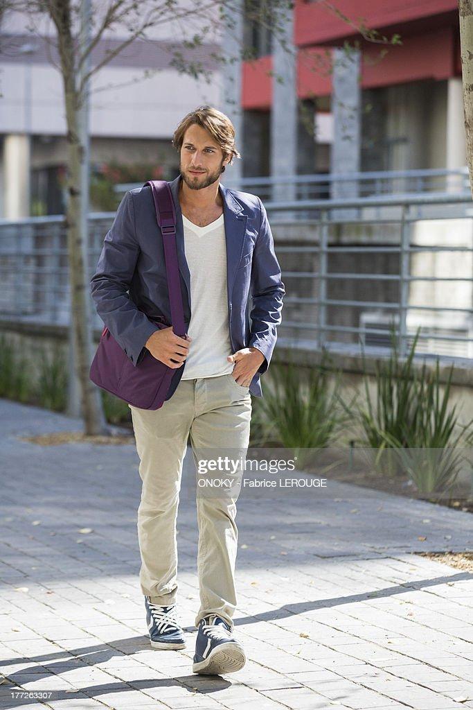 Man walking on a street