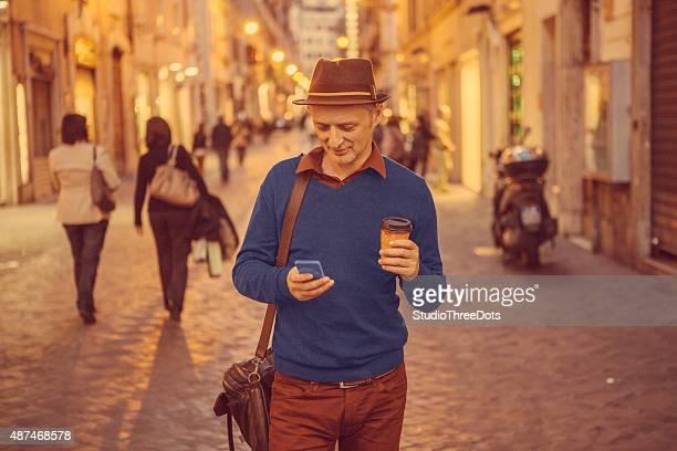 man walking on the street