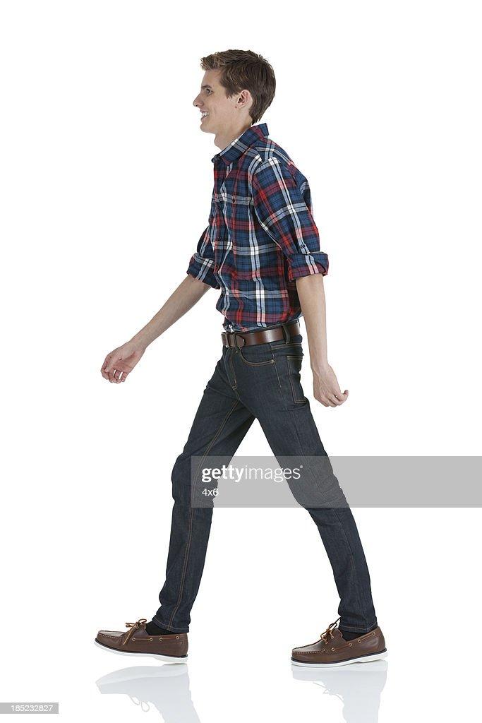 Mann zu Fuß : Stock-Foto
