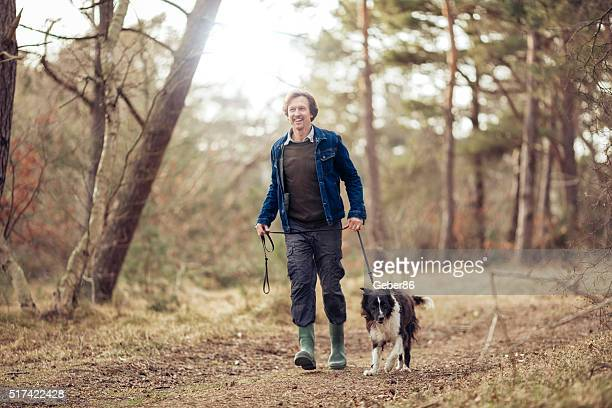 Man walking with his dog