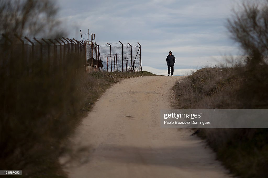 A man walks along a path on the site of the proposed 'Eurovegas' complex on February 10, 2013 in Alcorcon, near Madrid, Spain. Controversial plans have been given the go ahead for the Las Vegas Sands Corporation to build Europe's biggest casino and conference centre on the outskirts of Madrid bringing thousands of much needed jobs for the Spanish economy. As multi billionaire investor Sheldon Adelson's announced his plans protestors were claiming that the 36,000 room hotel complex would bring gambling addiction, criminal activity, prostitution and environmental damage to the area.