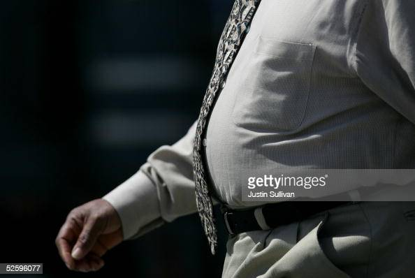 A man walks along the Embarcadero April 6 2005 in San Francisco According to a study released Tuesday almost 53 percent of Californians over 25 are...