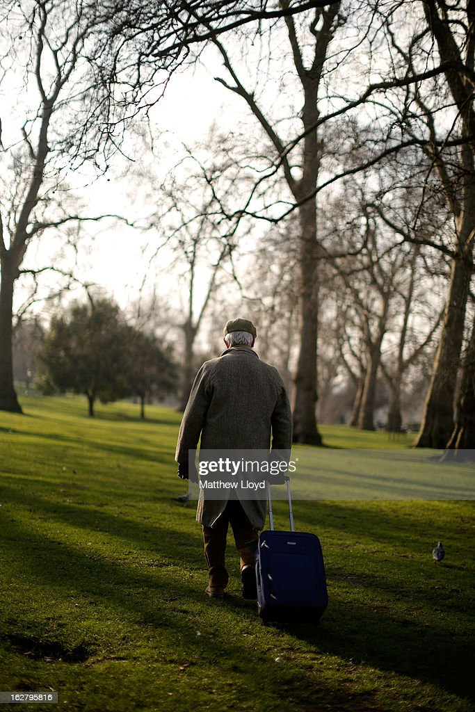 A man walks in the sunshine in St James' Park on February 27, 2013 in London, England. The Met Office has predicted a cold period at Easter.