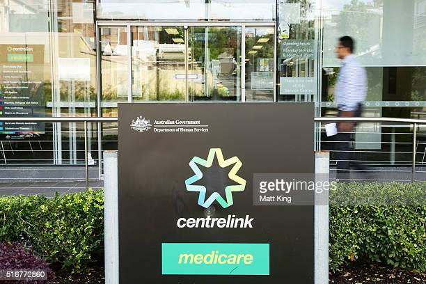 A man walks into a Medicare and Centrelink office at Bondi Junction on March 21 2016 in Sydney Australia Federal public sector workers are expected...