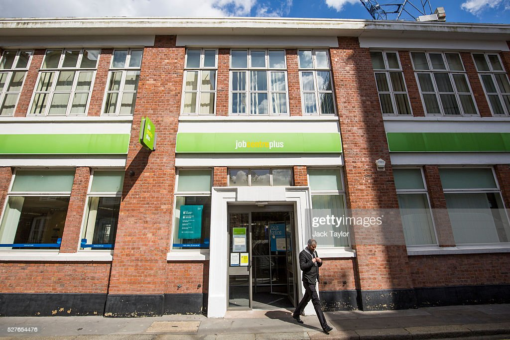A man walks near a Job Centre in Westminster on May 3, 2016 in London, England. The Resolution Foundation, chaired by former Conservative Minister David Willets, has said the Government's benefit reform has 'veered off track' due to cost-cutting. They say that 2.5 million families could be worse off, some by over ��3,000 a year. Universal Credit is a single payment and replaces six current benefits, including Jobseeker's Allowance and Employment and Support Allowance.