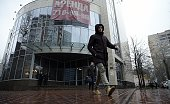 A man walks outside the office building which houses the headquarters of Russia's antidoping agency in Moscow on November 10 2015 The World...