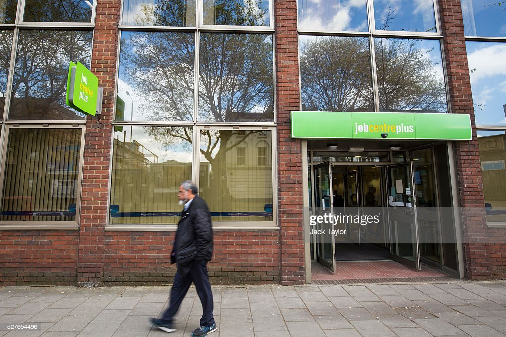 A man walks past a Job Centre in Westminster on May 3, 2016 in London, England. The Resolution Foundation, chaired by former Conservative Minister David Willets, has said the Government's benefit reform has 'veered off track' due to cost-cutting. They say that 2.5 million families could be worse off, some by over ��3,000 a year. Universal Credit is a single payment and replaces six current benefits, including Jobseeker's Allowance and Employment and Support Allowance.