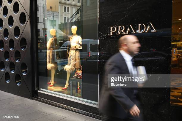 A man walks past a Prada SpA store at the Pitt Street Mall in Sydney Australia on Thursday April 13 2017 The Australian economy will expand 25...