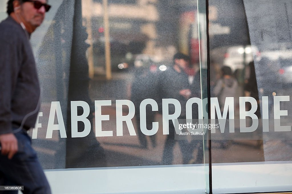 A man walks past an Abercrombie and Fitch store on February 22, 2013 in San Francisco, California. Clothing retailer Abercrombie and Fitch reported a surge in fourth quarter revenue with earnings of $157.2 million, or $1.95 per share compared to $45.8 million, or 52 cents per share one year ago.