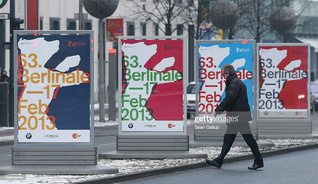 A man walks past posters advertising the 63rd Berlinale International Film Festival on January 15, 2013 in Berlin, Germany. The 2013 Berlinale will run from February 7-17, 2013.