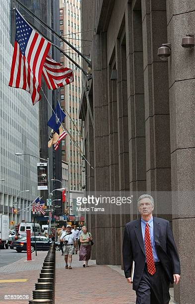 A man walks past the headquarters of Goldman Sachs Group Inc at 85 Broad St September 16 2008 in New York City Goldman Sachs one of the two largest...