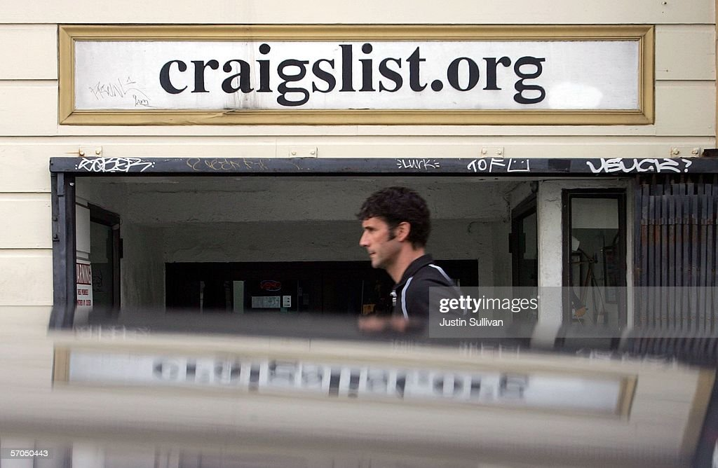 A man walks past the office of online site Craigslist March 10, 2006 in San Francisco, California. Craigslist.org is being sued in a federal lawsuit for violating fair housing laws by publishing discriminatory classified ads.