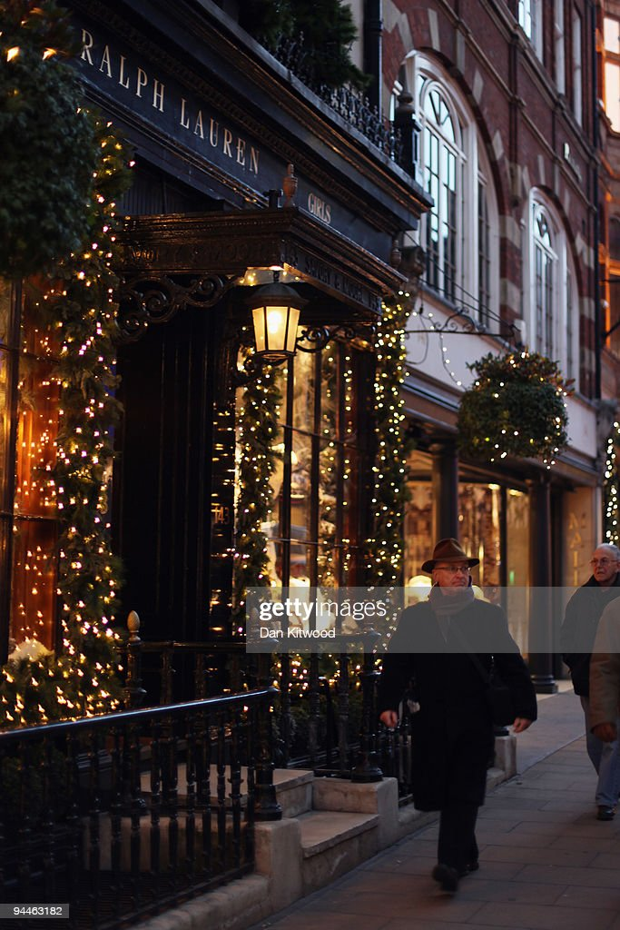 A man walks past the Ralph Lauren store on New Bond Street on December 14, 2009 in London, England. High street stores are expecting a bumper Christmas this year despite the economic dowturn, with shoppers spending around GBP £120 million in the past two days alone.