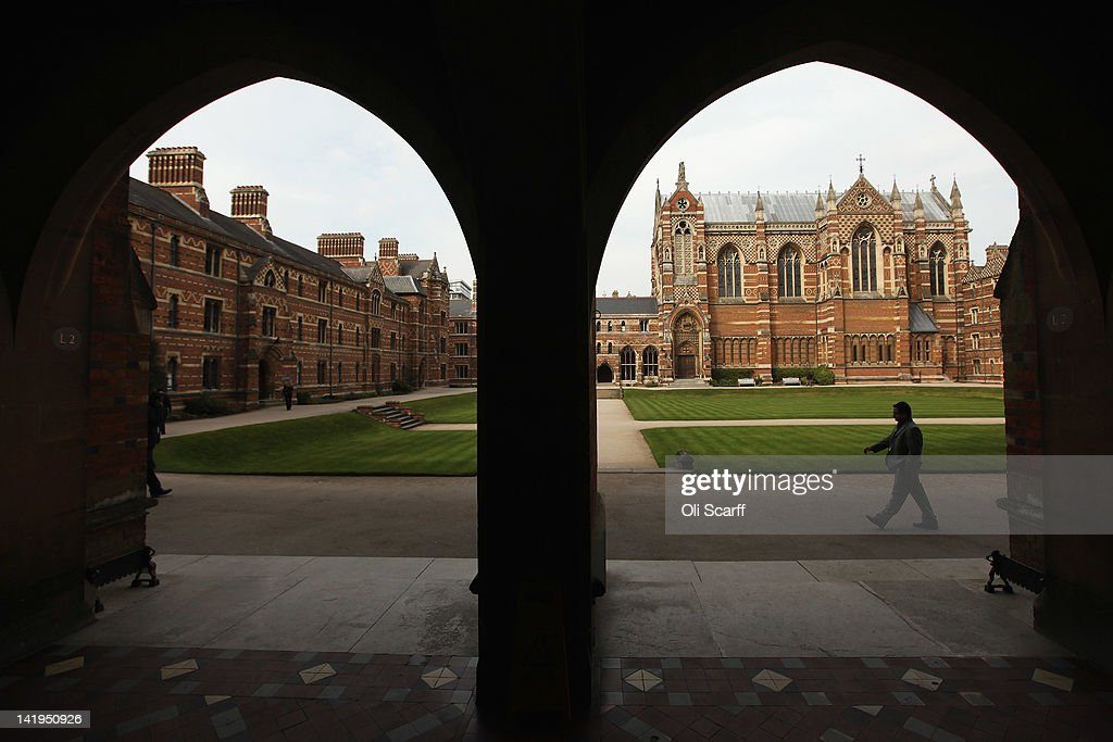 A man walks through Liddon Quad of Keble College on March 22 2012 in Oxford England