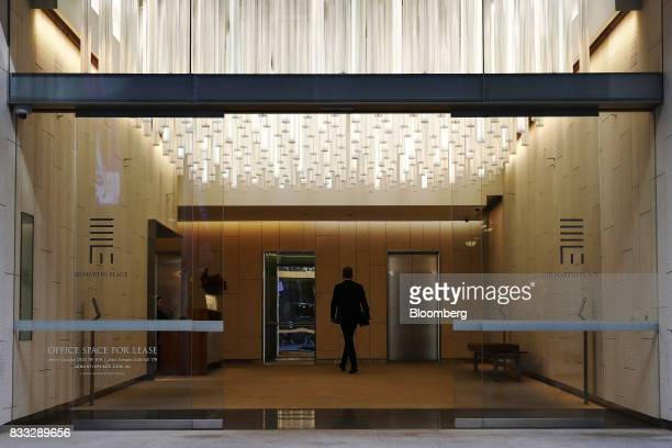 A man walks through the foyer of the 20 Martin Place building in Sydney Australia on Thursday Aug 17 2017 Australian employers added more jobs than...