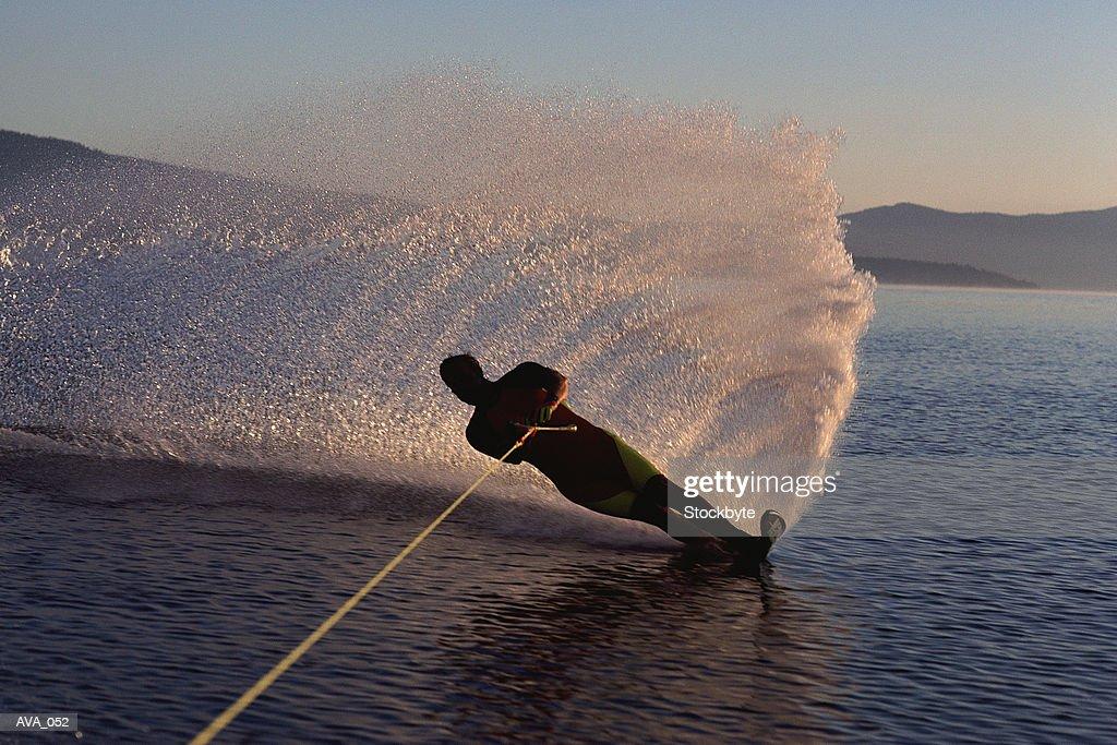 Man water-skiing : Stock Photo