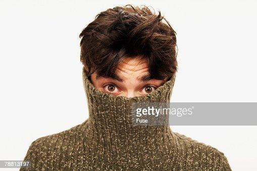 Man Wearing a Turtleneck