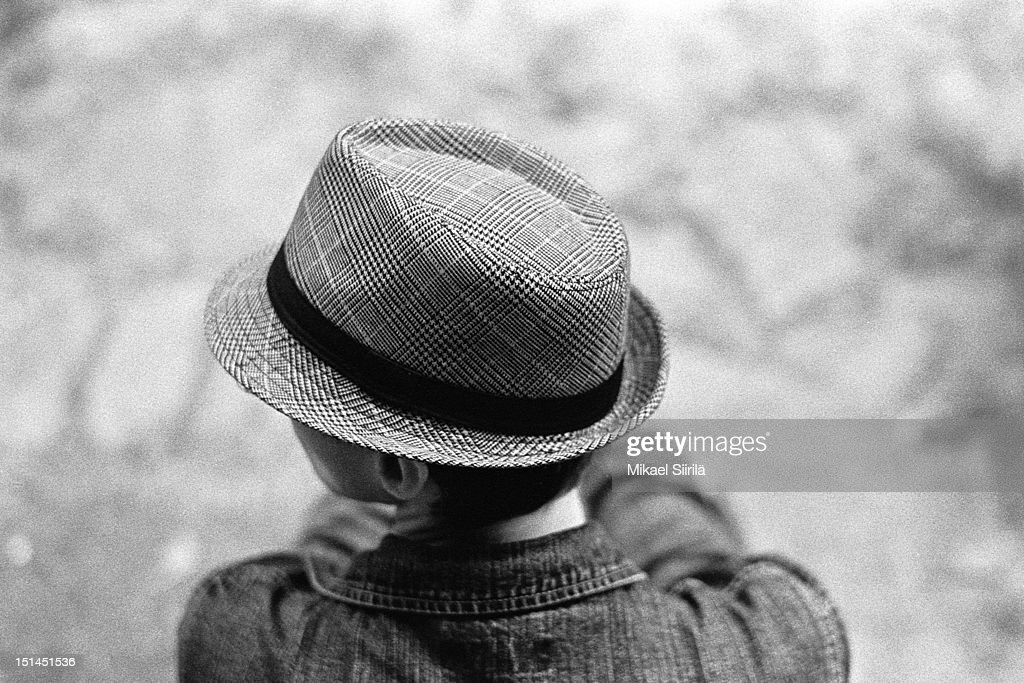 Man wearing casual hat. : Stock Photo