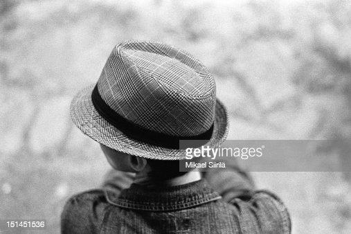 Man wearing casual hat. : Stockfoto