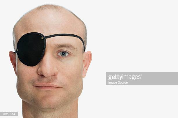 Man wearing eye patch