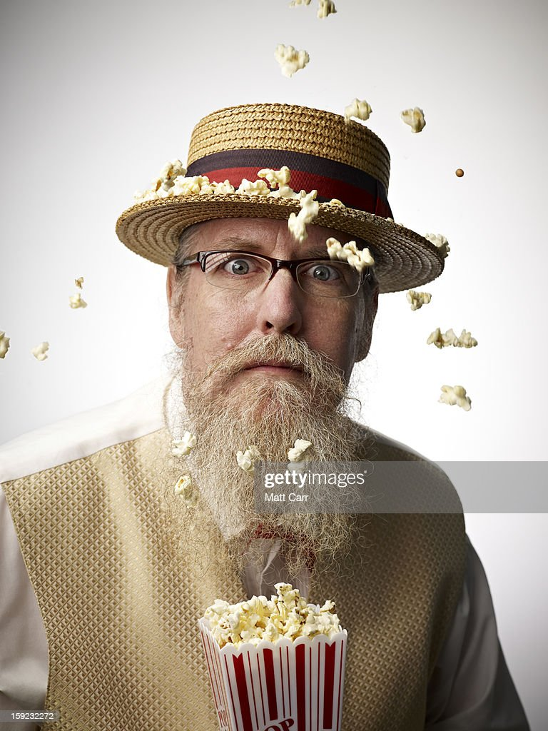 Man wearing glasses : Stock Photo