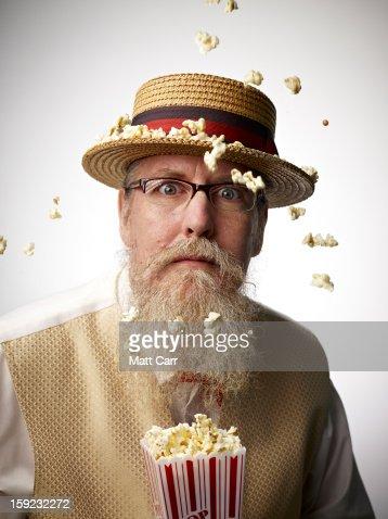 Man wearing glasses : Stockfoto