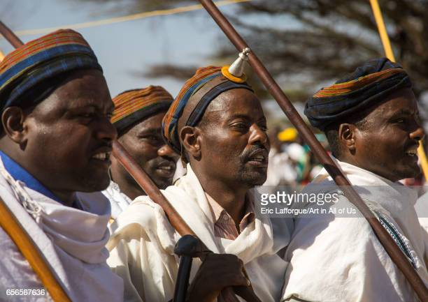 Man wearing kalasha on his forehead during during the Gada system ceremony in Borana tribe Oromia Yabelo Ethiopia on March 7 2017 in Yabelo Ethiopia