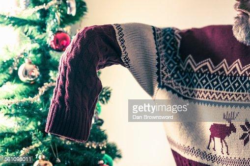 Man wearing oversized jumper