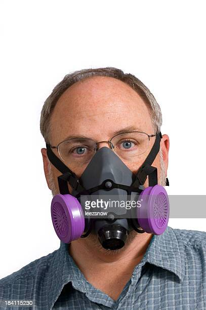 Man Wearing Respiratory Mask