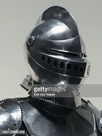 Man wearing suit of armor
