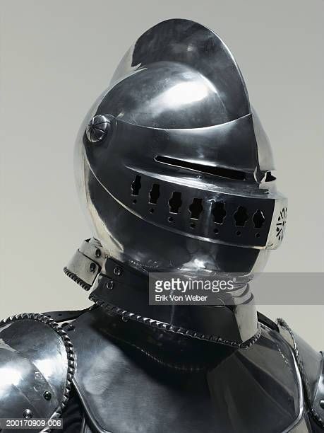 Man wearing suit of armor
