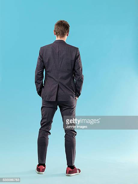 Man wearing suit, studio shot