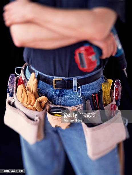 Man wearing toolbelt