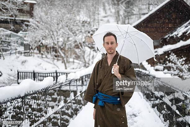 Man wearing traditional Yukata
