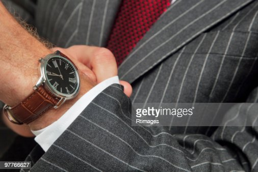 Man wearing wristwatch