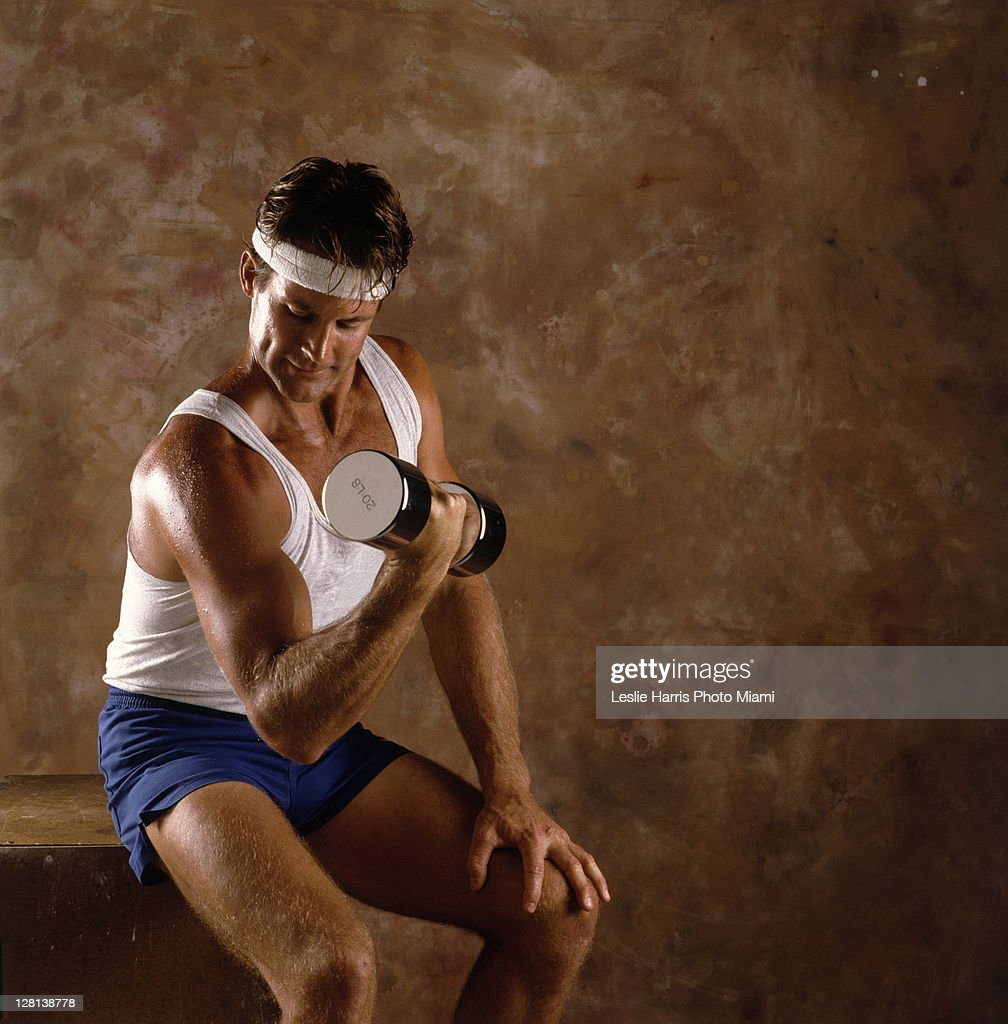 Man weightlifting : Stock Photo