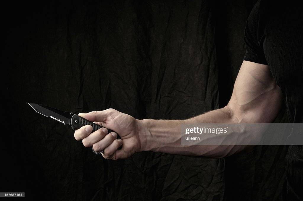 Man wielding knife
