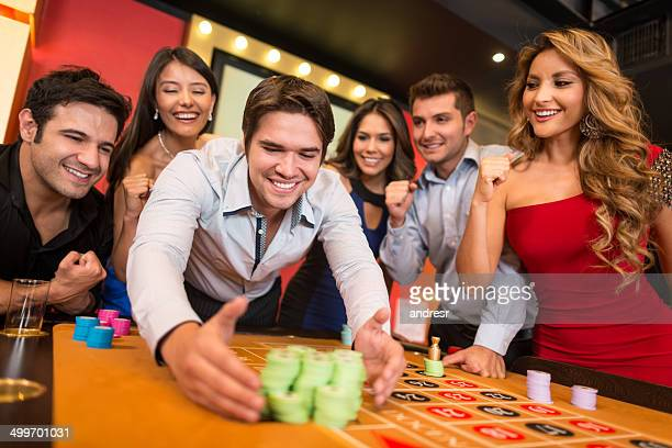 Man winning on the roulette