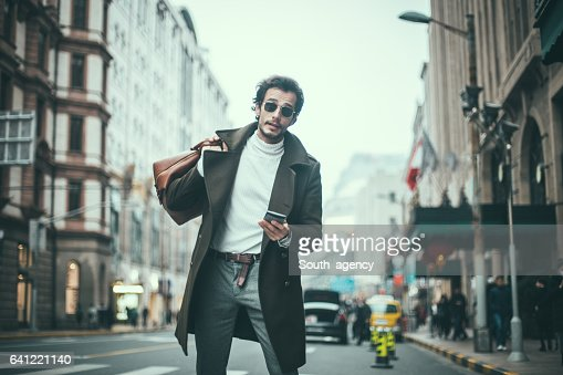Man With A Bag Stock Photo | Getty Images