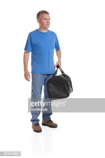 Man With a Black Duffel Bag