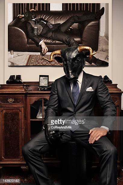 Man with a bull's head
