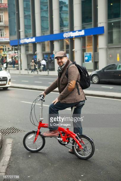Man with a Folding bicycle, Istanbul