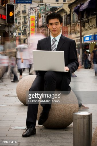 man with a laptop : Stock Photo