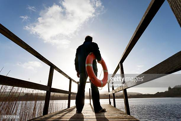 Man with a Life buoy
