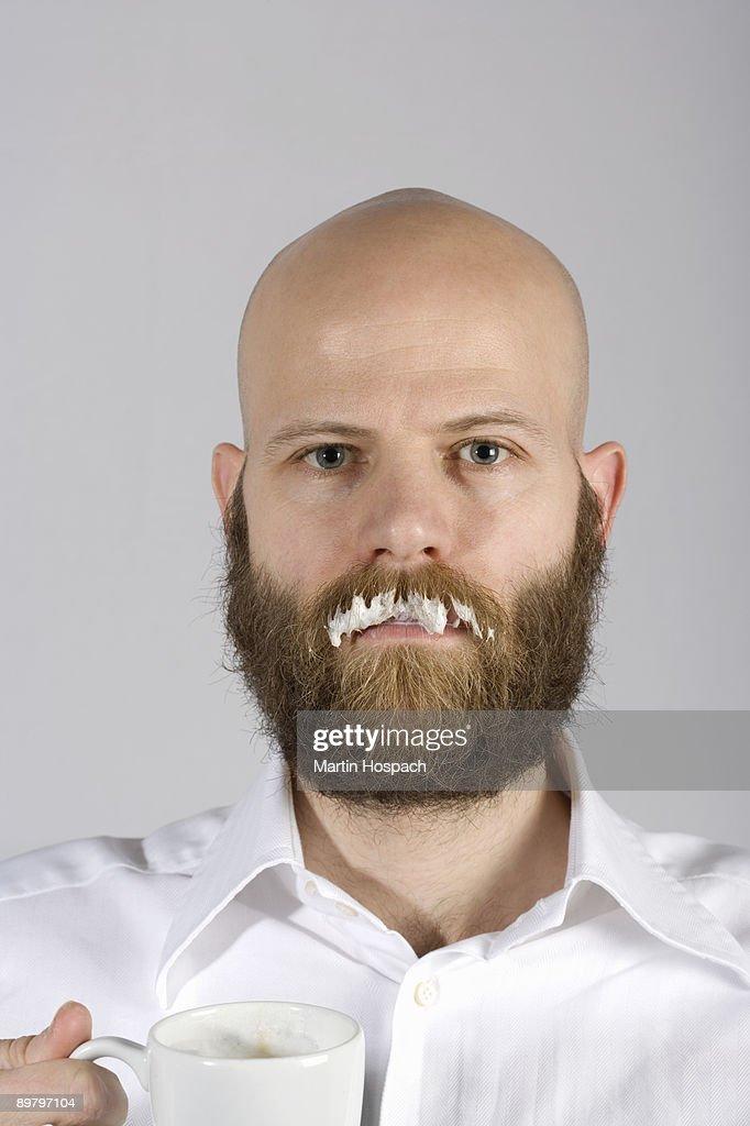 Milk Mustache Stock Images - Image: 16962074