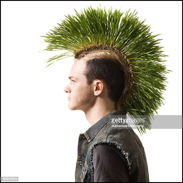 man with a mohawk