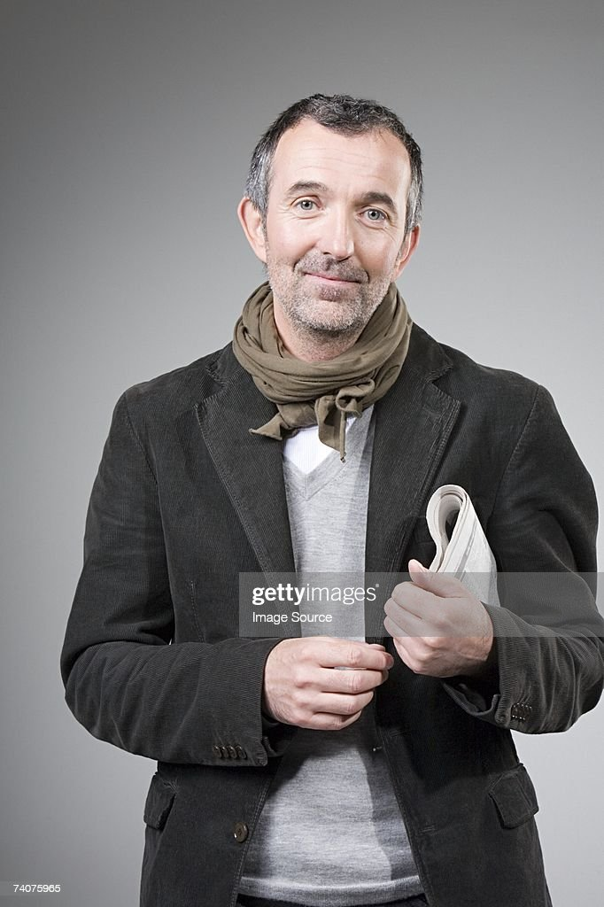Man with a newspaper