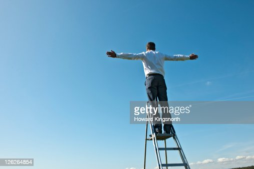 man with arms outstretched : Stock Photo
