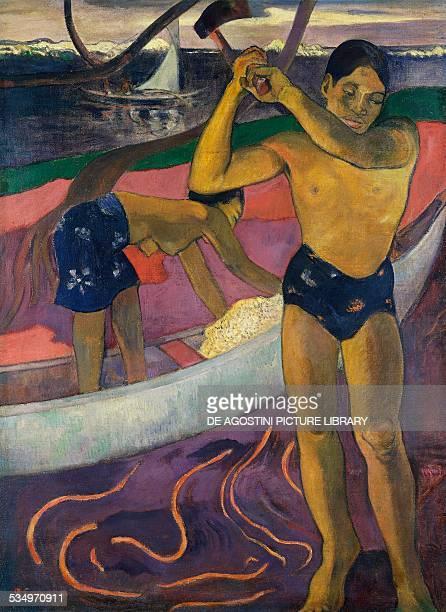 A man with axe by Paul Gauguin oil on canvas 92x70 cm France 19th century